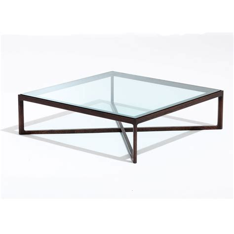 metropolitan square glass coffee table square coffee