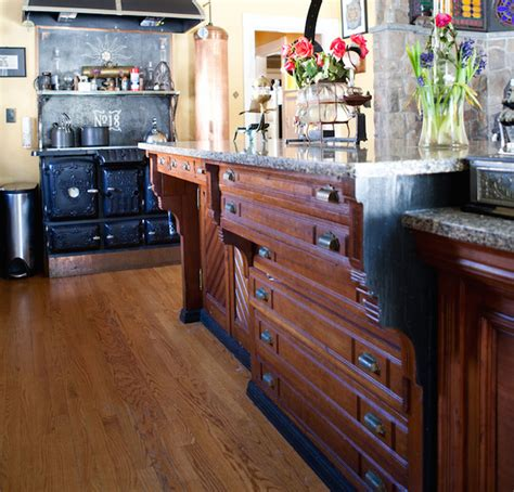 repurposed reclaimed nontraditional kitchen island victoria elizabeth barnes