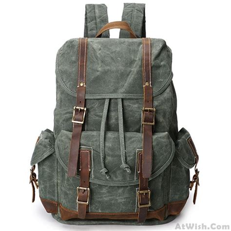 washing colors retro washing colors waterproof canvas school bag leather