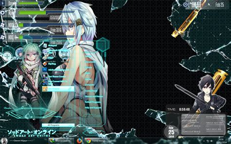 download theme windows 7 gun gale online theme win 7 gun gale online by animewindows