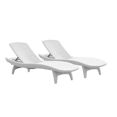 White Plastic Pool Lounge Chairs by Suncast Elements Resin Outdoor Lounge Chair With Storage