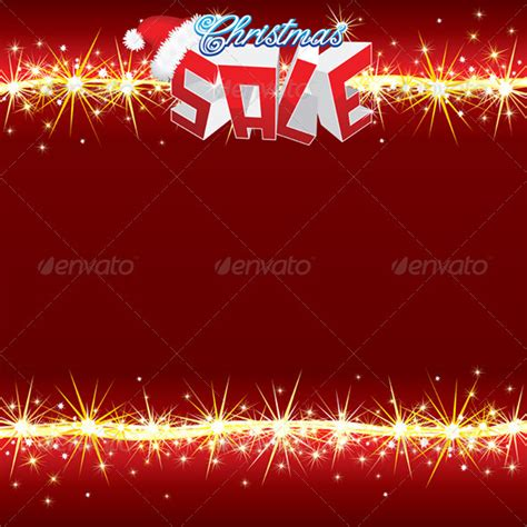 christmas sale poster vector template sale poster