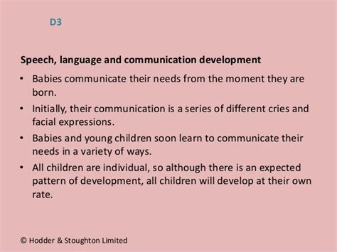 expected pattern of language and communication development u1 lesson1 lo1