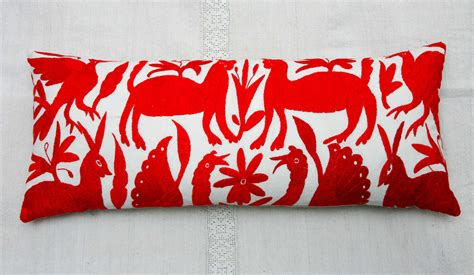 Otomi Pillows by Mexican Embroidered Quot Otomi Quot Pillows At 1stdibs