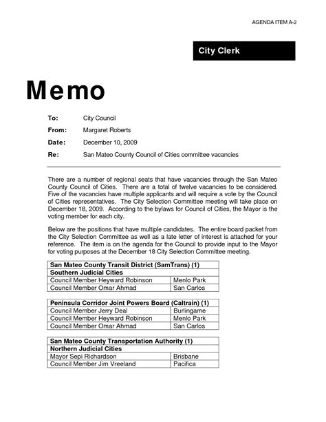 How To Write Business Letter And Memo sle resume format of a business memo resume daily