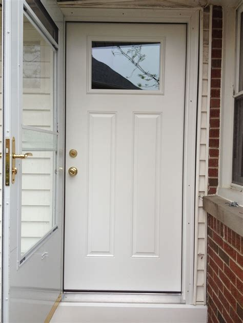 Prefinished Exterior Doors The Way It Does Look Smooth S601 Door Slab Prefinished In Glacier White Bright Brass