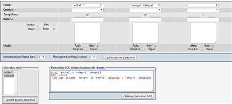 cara membuat query di database cara membuat query dalam mysql kursus web programming