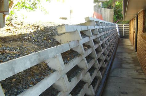 Concrete Crib Retaining Wall by Australian Retaining Walls Concrete Crib Retaining Walls