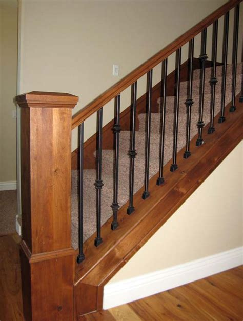 banister and spindles rod iron stair railing spindles interesting ideas for home