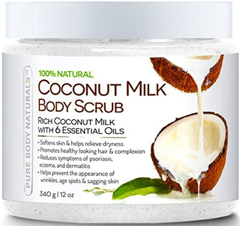Scrub Milk Coconut naturals coconut milk exfoliating scrub
