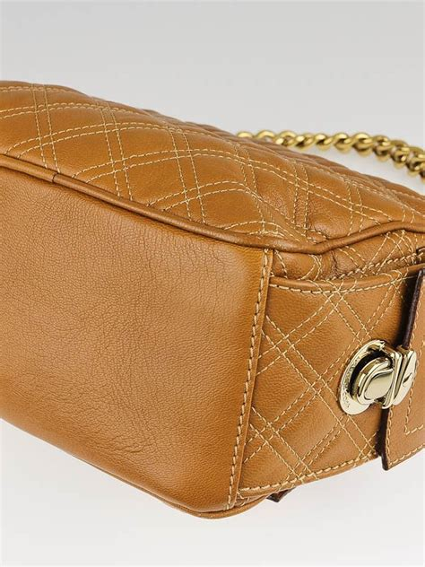 Marc Quilted Chain Bag by Marc Brown Quilted Leather Multipocket Chain Hobo