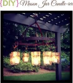 diy candle chandelier diy jar candle ier outdoor chandelier