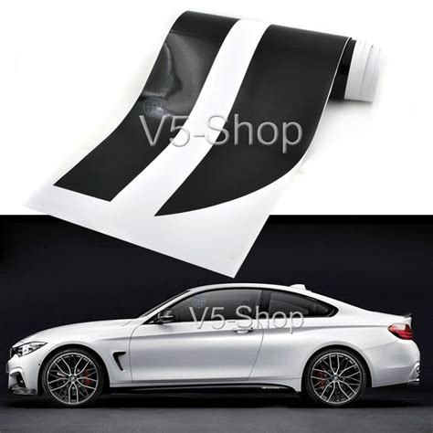 Sticker Side Bmw Motorsport Decal 2x 2x 85inch m performance side skirt stripe car sticker decal for bmw 5 series e60 e61 4