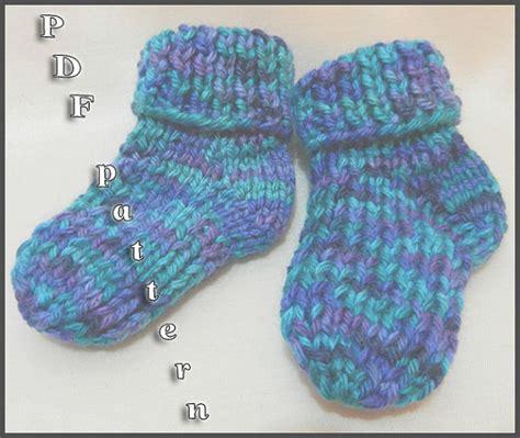pattern baby socks knit easy knitted baby socks pattern quot mattie quot from