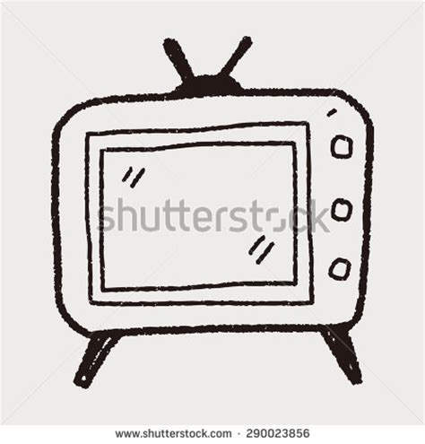 doodle tv doodle radio seamless pattern background stock vector