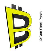 Bitcoin currency symbol and cash illustration design ... B