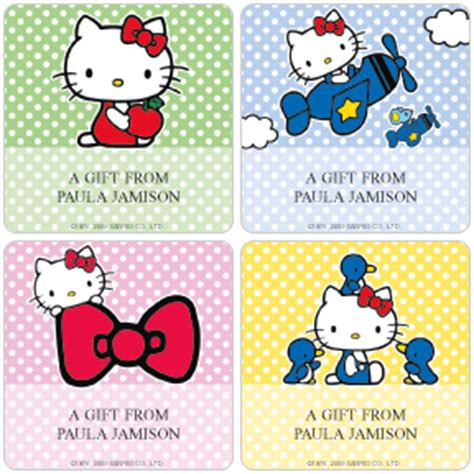 Brand Label Aksesoris Accesories Hellokitty Hello 174 Gift Labels Checks In The Mail