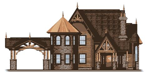 castle house plans with towers ashalee ii log home plan by log castles by bet r bilt