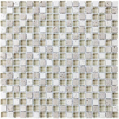 bliss creme brulee stone and glass square mosaic tiles