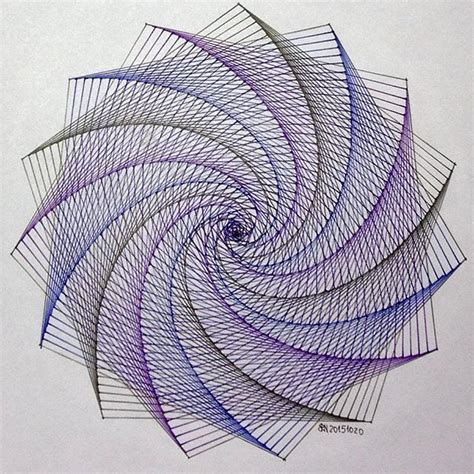 Geometry String Patterns - string handmade disk on instagram