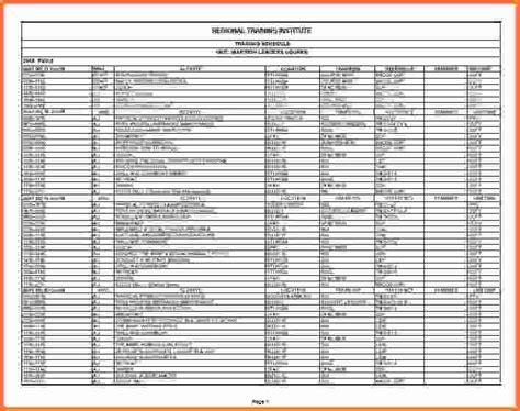 training schedule template training schedule jpg sales