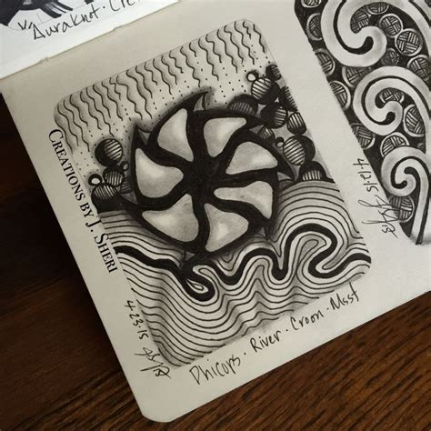 zentangle pattern phicops 17 best images about my zentangle tiles journals and