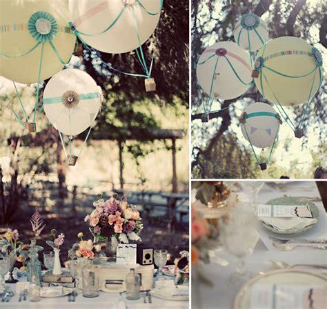 hot wedding themes head over heels for hot air balloon wedding ideas green