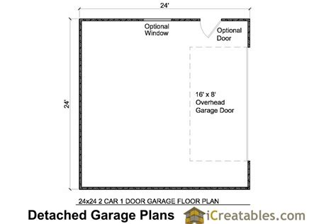 garage door floor plan 24x24 garage floor plan with 1 houses plans designs