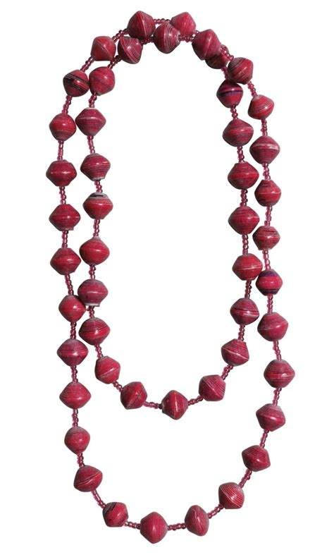 paper bead necklace ecofriendly gifts fairtrade gifts paper bead necklace