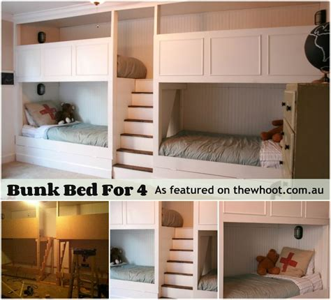 4 Person Bunk Bed 17 Best Images About Room On Pinterest Kid Beds Bed With Storage And Bunk Beds