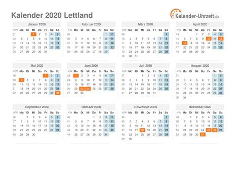 feiertage  lettland kalender uebersicht