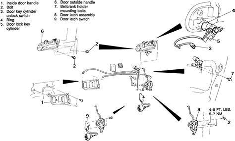 2008 mitsubishi eclipse door lock cylinder used for repair guides interior door locks autozone