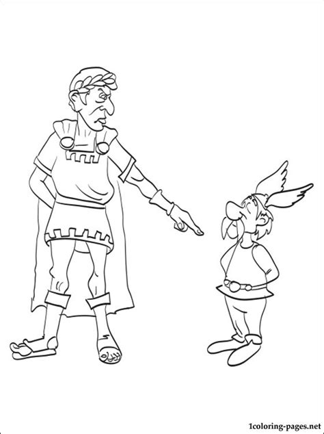 Asterix And Caesar Coloring Page Coloring Pages Julius Caesar Coloring Pages