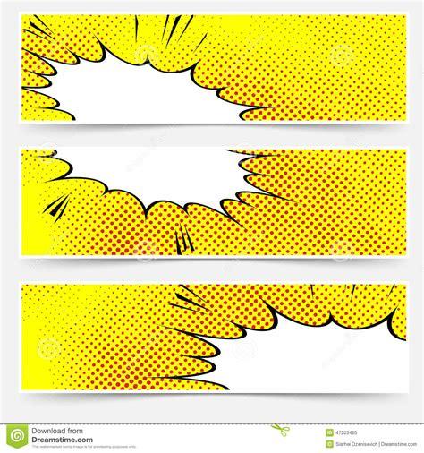 yellow header book comic explosion banner stock vector
