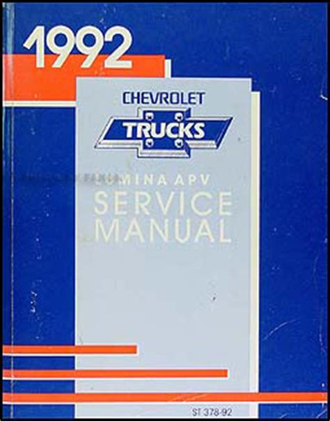 car repair manuals online free 1992 chevrolet lumina apv free book repair manuals 1992 chevy lumina apv minivan repair shop manual original