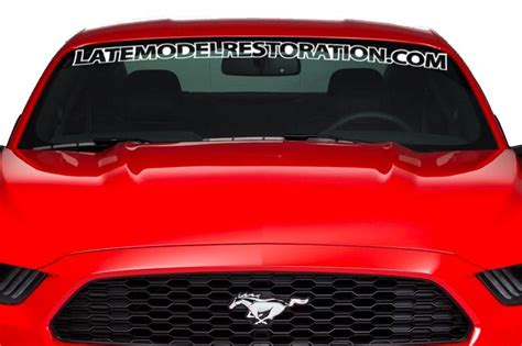 ford mustang windshield decals 2015 2018 mustang windshield decals lmr