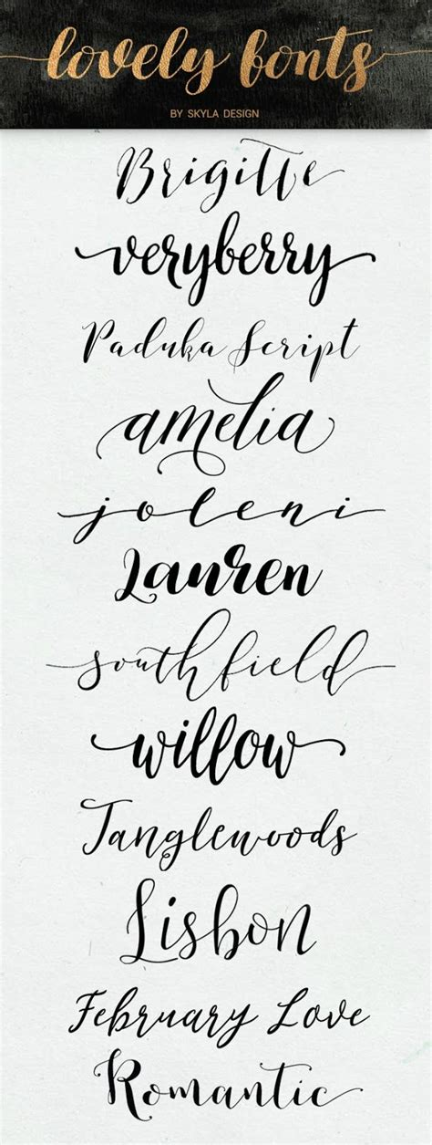 tattoo fonts commercial use lovely modern calligraphy fonts some free handlettered