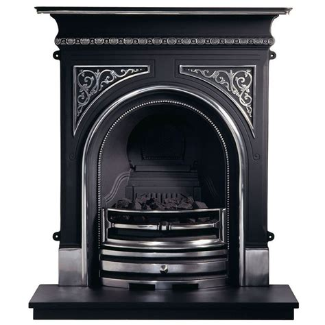 celtic cast iron fireplace with flueless magiflame