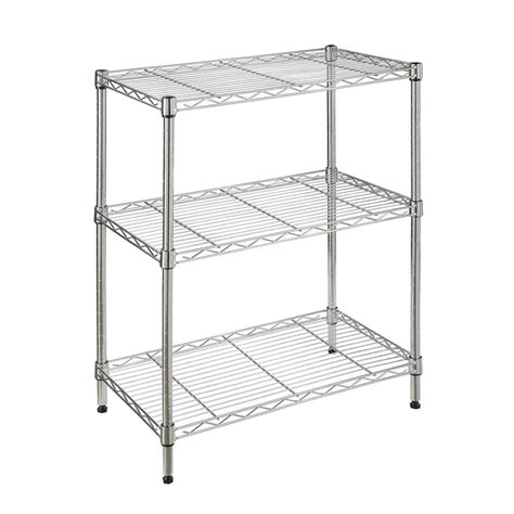 stainless steel shelves home depot hdx 3 shelf 23 3 in w x 13 3 in l x 30 3 in h storage