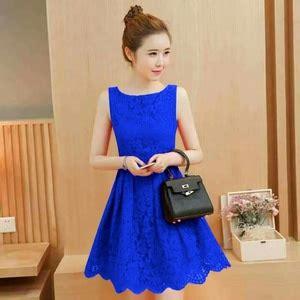 Dress Merah Lengan Buntung Sale baju mini dress pendek pesta wanita bahan brukat lengan