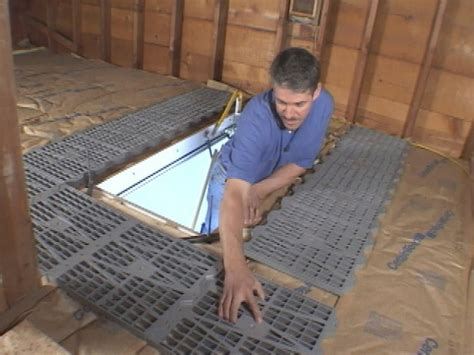 attic works how to install attic dek flooring