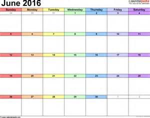 calandar template june 2016 calendars for word excel pdf