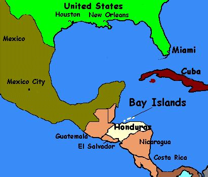 honduras location on world map honduras on map my