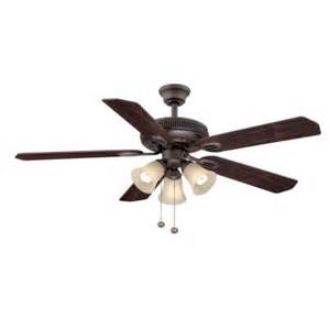 home depot fan hton bay glendale 52 in rubbed bronze ceiling fan