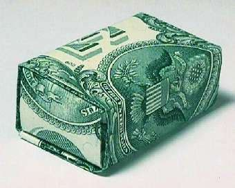 Dollar Bill Origami Box - money gift box by clay randall
