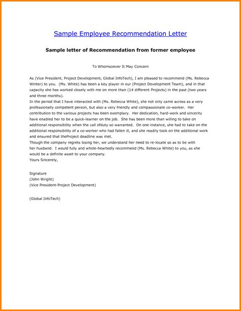 Reference Letter For Retail Employee Sle Letter Of Employement Vertola