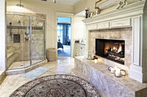 bathroom with fireplace luxurious mansion bathrooms pictures designing idea