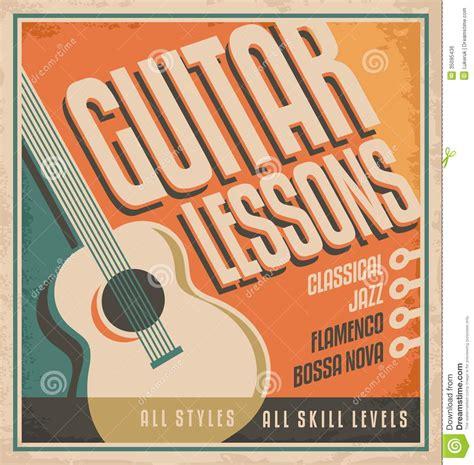 typography guitar tutorial guitar poster design royalty free stock image image