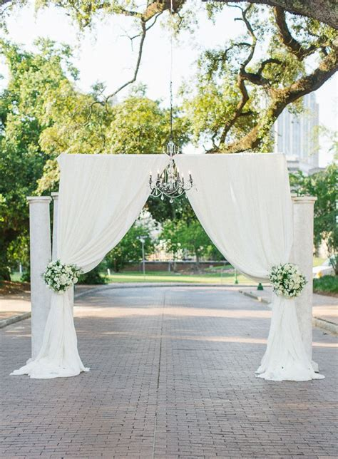 Outdoor Ceremony Decor by Southern Wedding At Fort Conde Inn