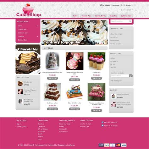 Cst020034 Premium Cs Cart Cake Shop Template Cs Cart Premium Templates